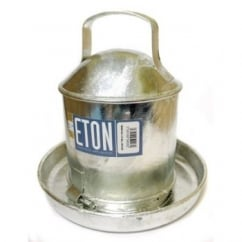 Galvanised Traditional Poultry Drinker 0.5 Gallon