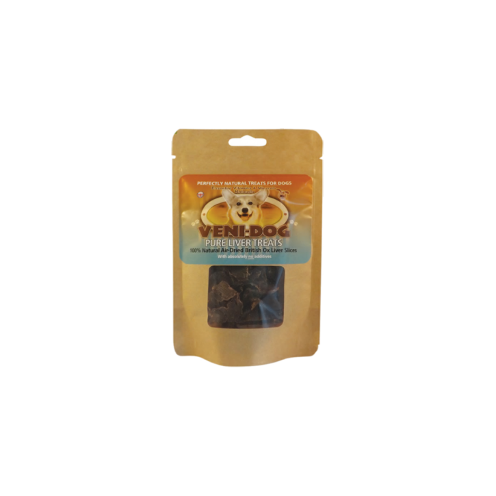Veni -Dog Pure British Ox Liver Slices Dog Treats 40g