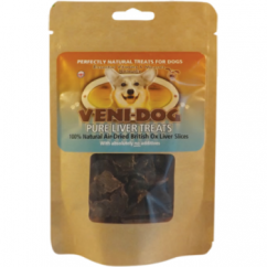 Pure British Ox Liver Slices Dog Treats 40g