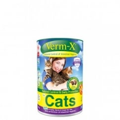 Verm-X Intestinal Health Herbal Crunchies for Cats in 60gm tub