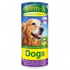 Verm-X Intestinal Health Herbal Crunchies for Dogs in 100gm tub