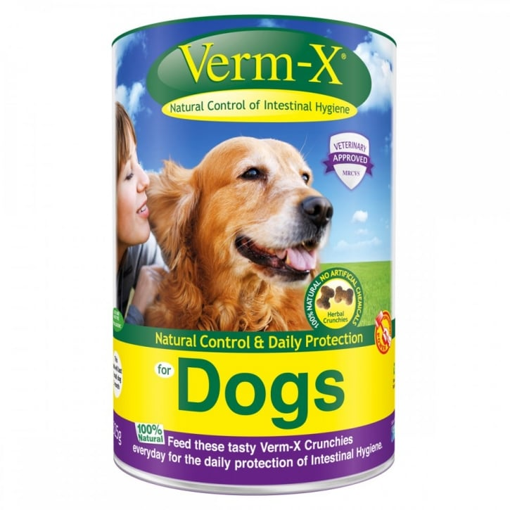 Verm-X Intestinal Health Herbal Crunchies for Dogs in 325gm tub