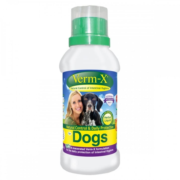 Verm-X Intestinal Health Liquid for Dogs in 250ml bottle
