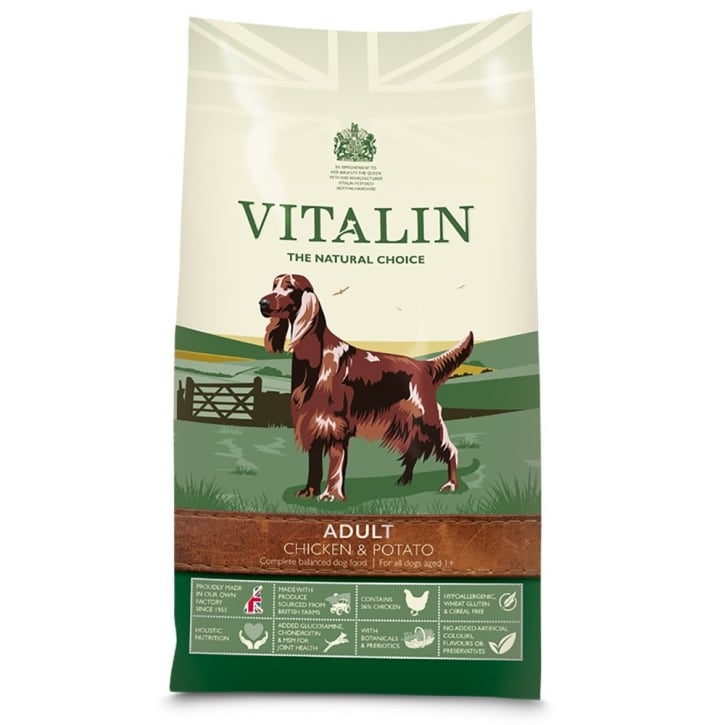 Vitalin Natural Adult Dog Food Chicken & Potato 2kg