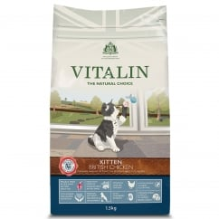 Vitalin Natural Kitten Food with British Chicken 1.5kg