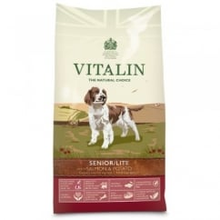Vitalin Natural Senior/Lite Dog Food Salmon & Potato 12kg