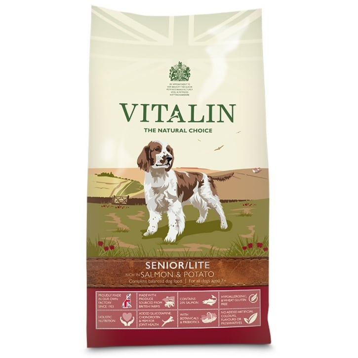 Vitalin Natural Senior/Lite Dog Food Salmon & Potato 6kg