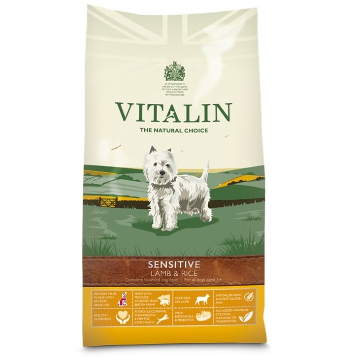 Vitalin Natural Sensitive Adult Dog Food Lamb & Rice 2kg
