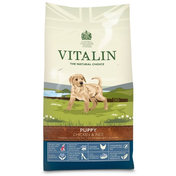 Vitalin Puppy Complete Dog Food Chicken & Rice 12kg