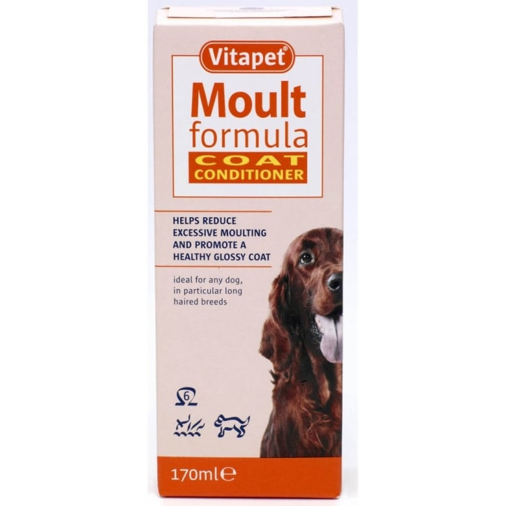 Vitapet Moult Formula Moulting & Coat Conditioner For Dogs 150ml