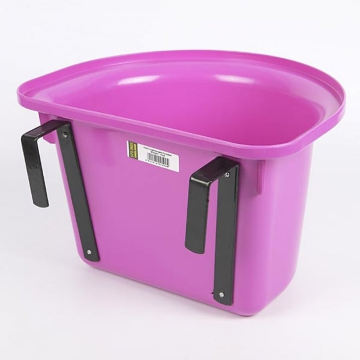 W B Stubbs Lightweight Portable Hook Over Manger Bucket Pink