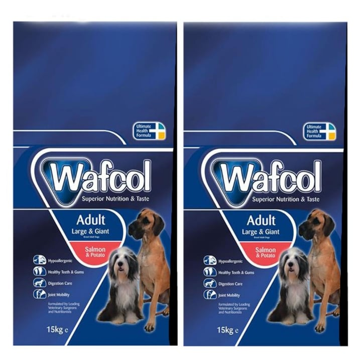 Wafcol Adult Dog Food Large/Giant Breed Salmon & Potato 2 x 12kg Twin Offer