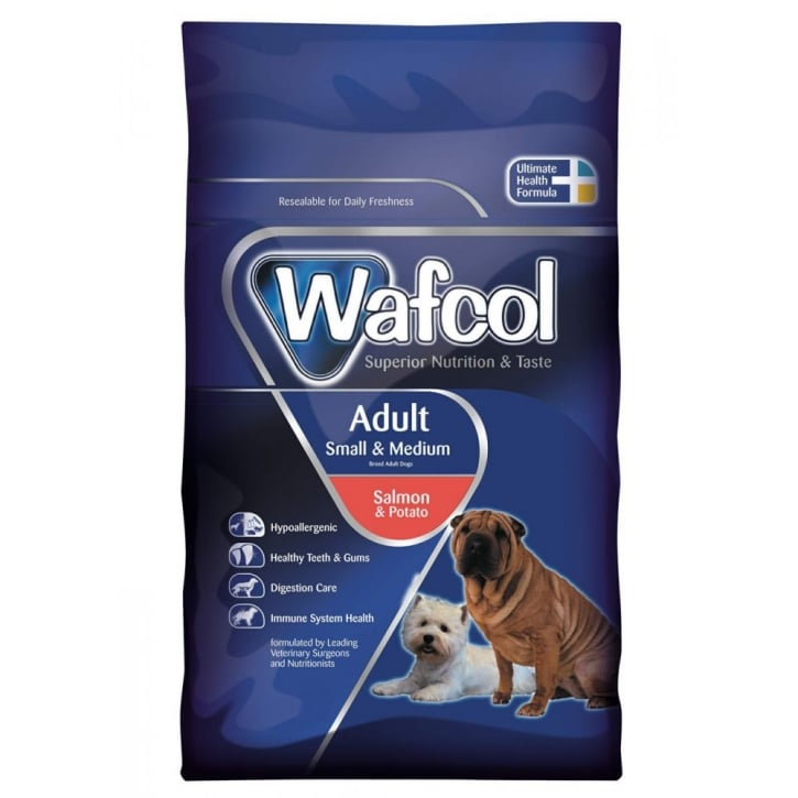 Wafcol Hypoallergenic Adult Dog Food Small / Medium Breed Salmon & Potato 12kg