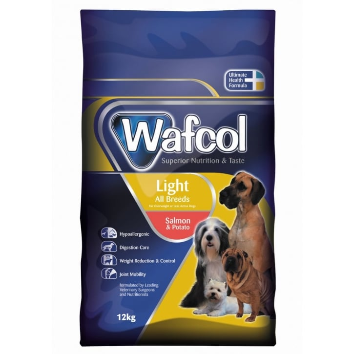 Wafcol Hypoallergenic Complete Adult Light Salmon & Potato Dog Food Diet 12kg