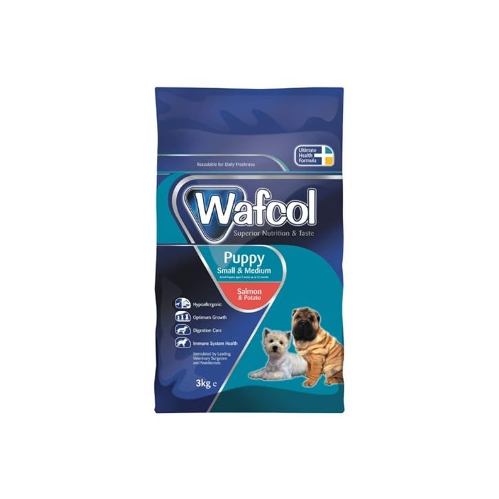 wafcol hypoallergenic puppy dog food small medium breed 2 5kg feedem