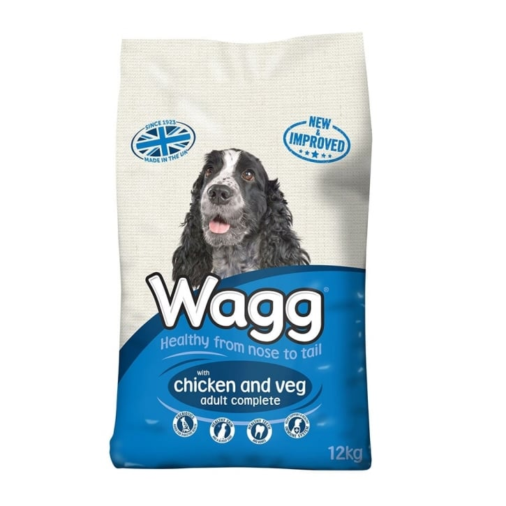 Wagg Chicken & Veg Adult Dog Food 12kg + 25% Extra
