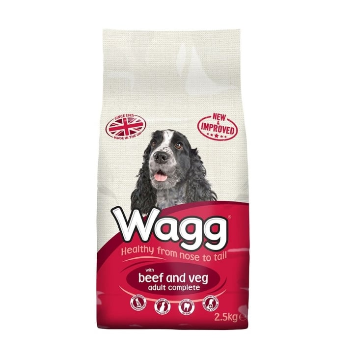 Wagg Complete Adult Dog Food With Beef & Veg 2.5kg