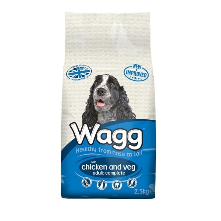 Wagg Complete Adult Dog Food With Chicken & Veg 2.5kg