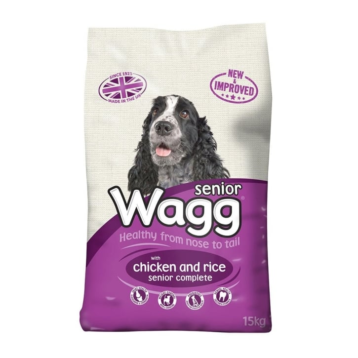 Wagg Complete Senior Dog Food With Chicken & Rice 15kg