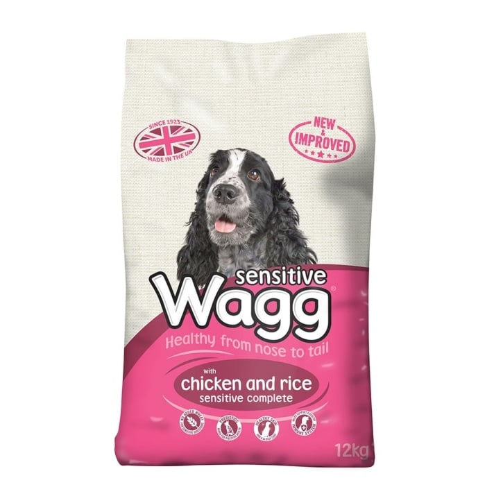 Wagg Complete Sensitive Adult Dog Food With Chicken & Rice 12kg