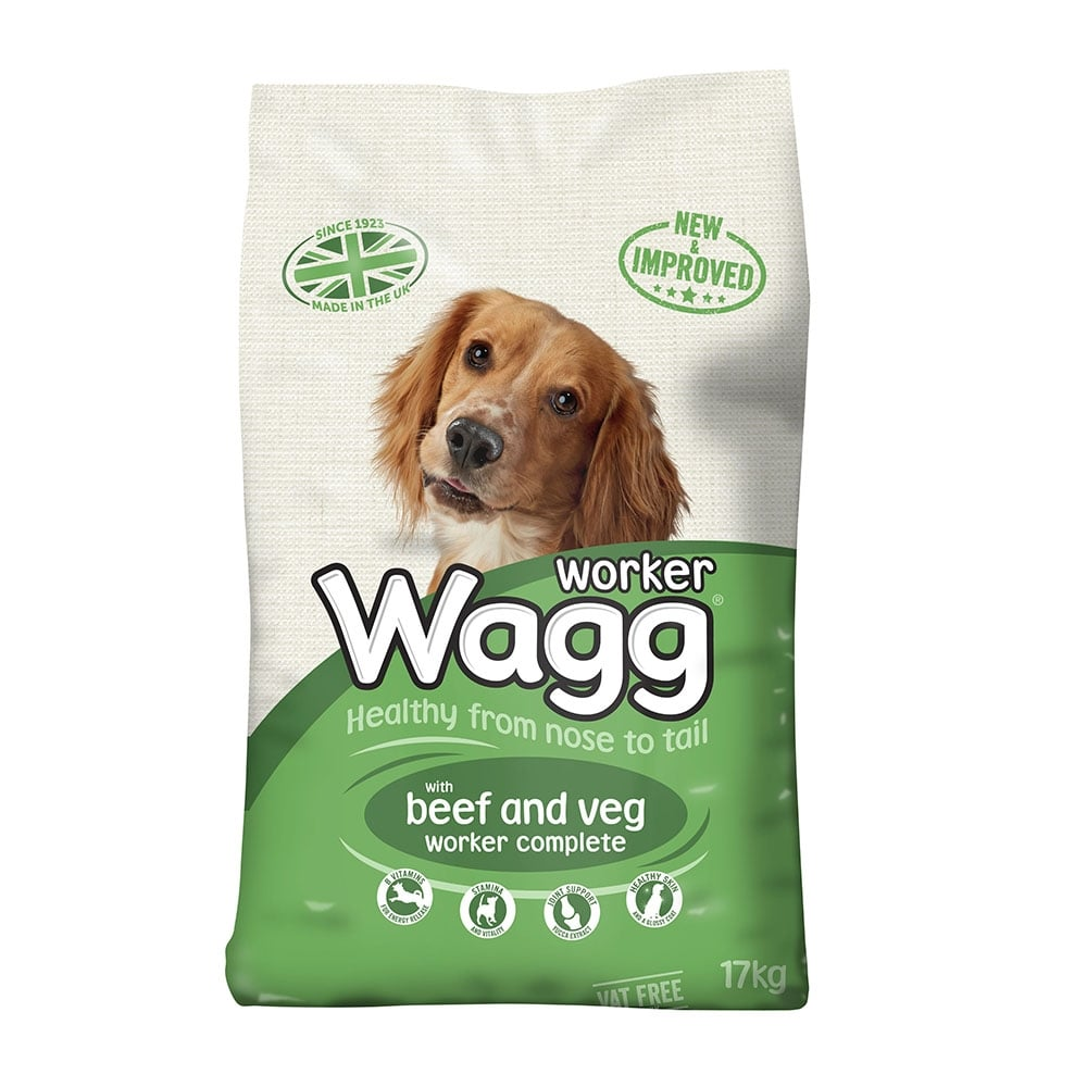 Wagg Worker Dog Food With Beef And Veg Kg