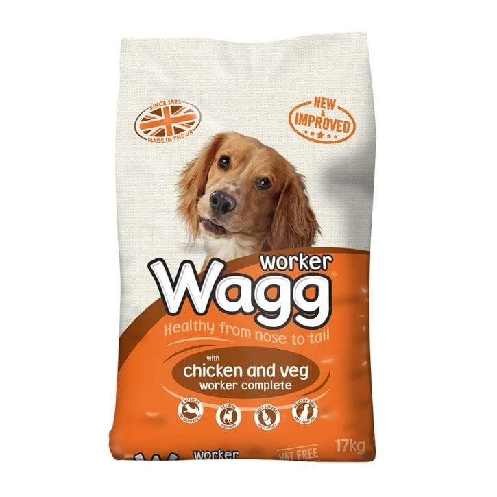 Wagg Complete Worker Adult Dog Food With Chicken & Veg 17kg