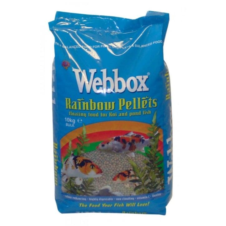 Webbox rainbow pellets floating fish food for koi pond for Koi pond food