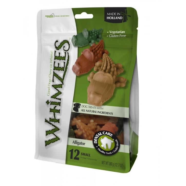 Whimzees Alligator Dog Treat Medium 12 pack