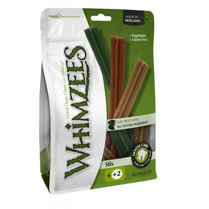 Whimzees Stix Dog Treat Large 18cm 6pack