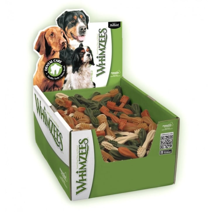 Whimzees Toothbrush Dog Treat 9cm Small Box 150