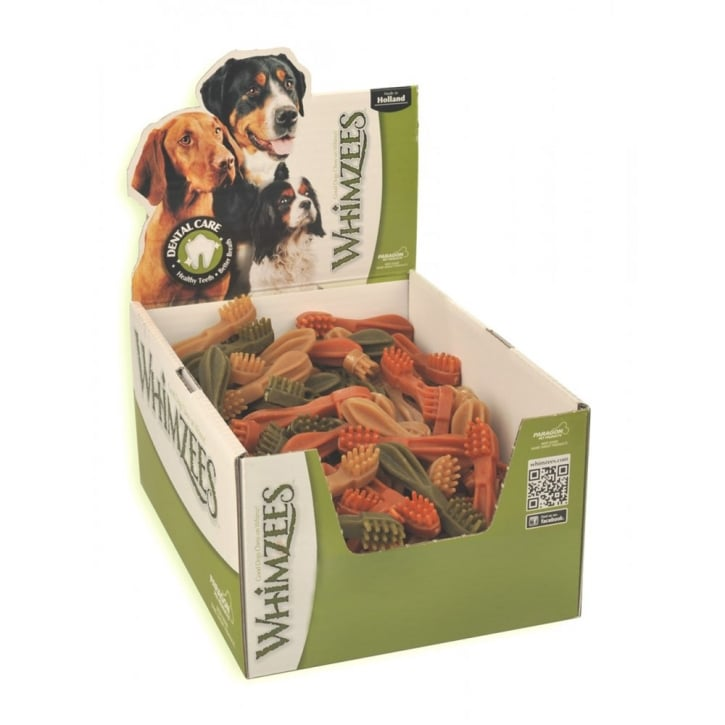 Whimzees Toothbrush Dog Treat Medium 11cm Box 75