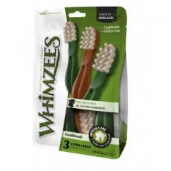 Whimzees Toothbrush Dog Treat XLarge 18cm 3 pack