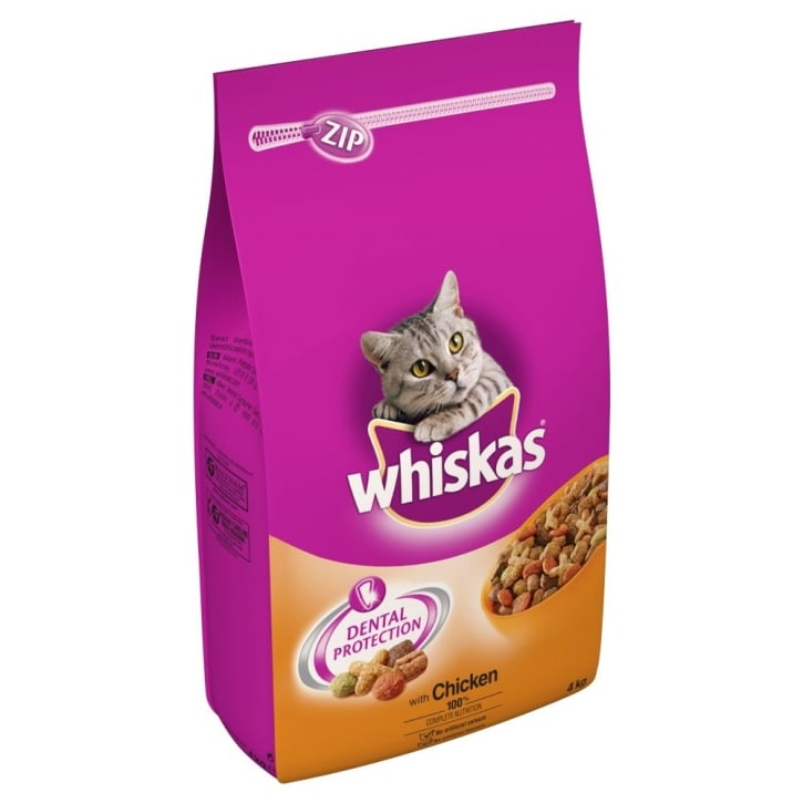 Whiskas Complete Adult Cat Food - Chicken 4kg