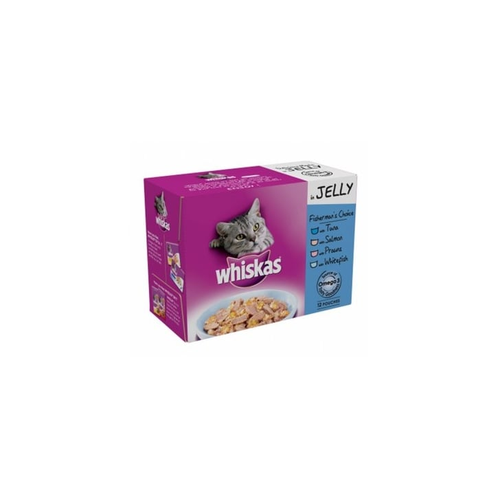 Whiskas Fishermans Choice Cat Food Pouches In Jelly Pack 12 X 100gm