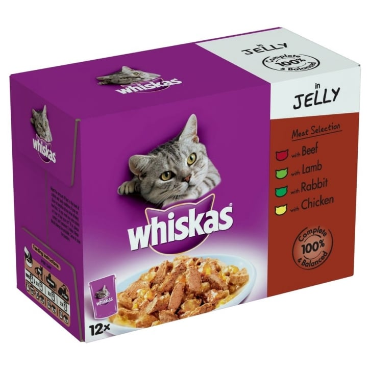 Whiskas Pouches Meat Favourites in Jelly 12 Pack 100gm