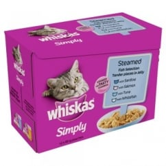 Whiskas Simply Steamed Fish Pouches in 12x85gm