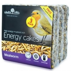 Winston Wilds Wild Bird Mealworm Energy Cake 3 x 325g