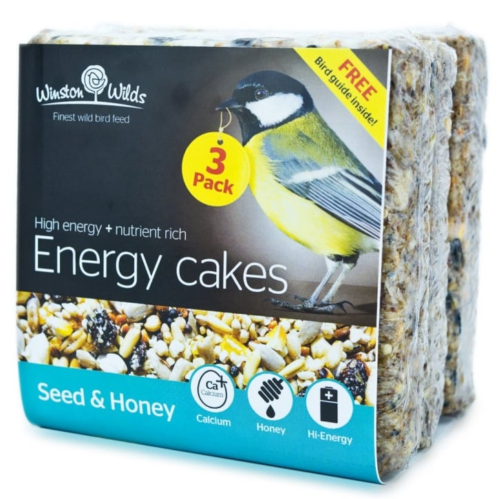Winston Wilds Wild Bird Seed & Honey Energy Cake 3 x 325g