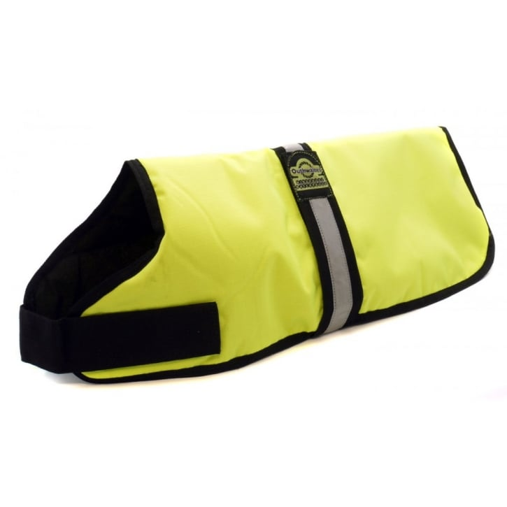 Wr Outhwaite & Son Waterproof Padded Hi-Vis Dog Coat Yellow
