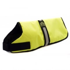 Waterproof Padded Hi-Vis Dog Coat Yellow